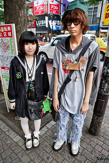 His & Hers White Creepers in Shibuya