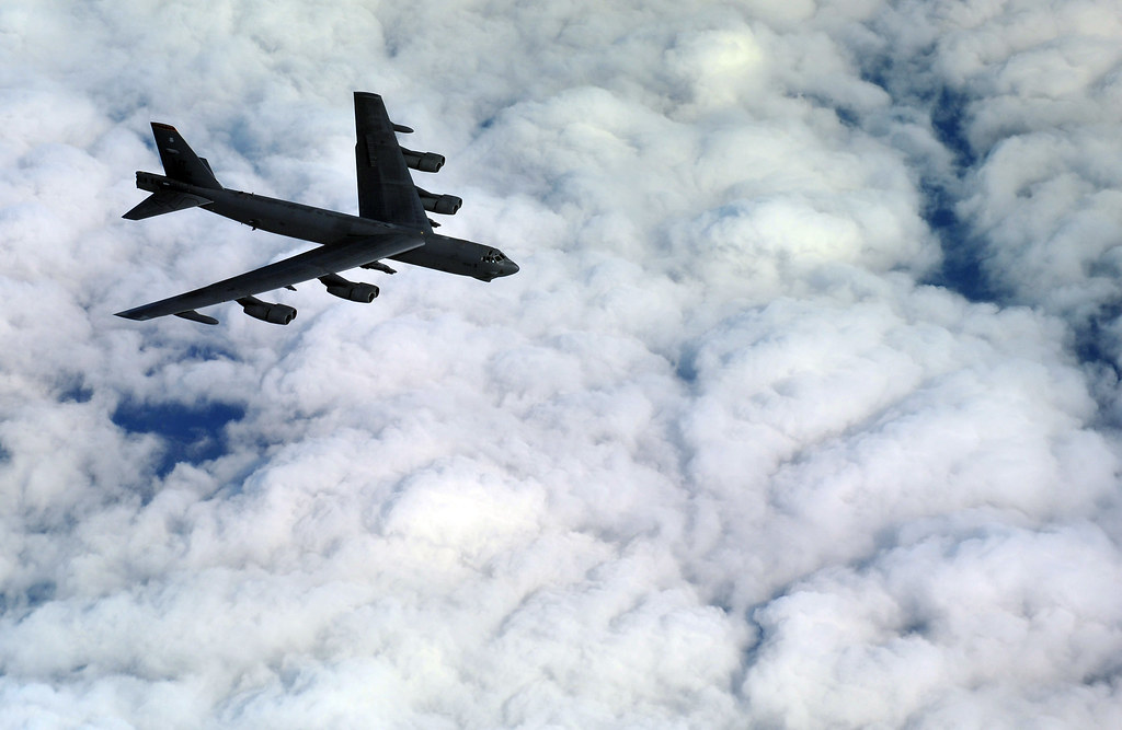B52s in Massive MidEast Carpet Bombing Exercise But dont expect the heavy bombers to join the war in Iraq