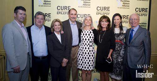 Todd Palin, John Coale, Greta van Susteren, David and Susan Axelrod, Sarah Palin, Wendi and Rupert Murdoch