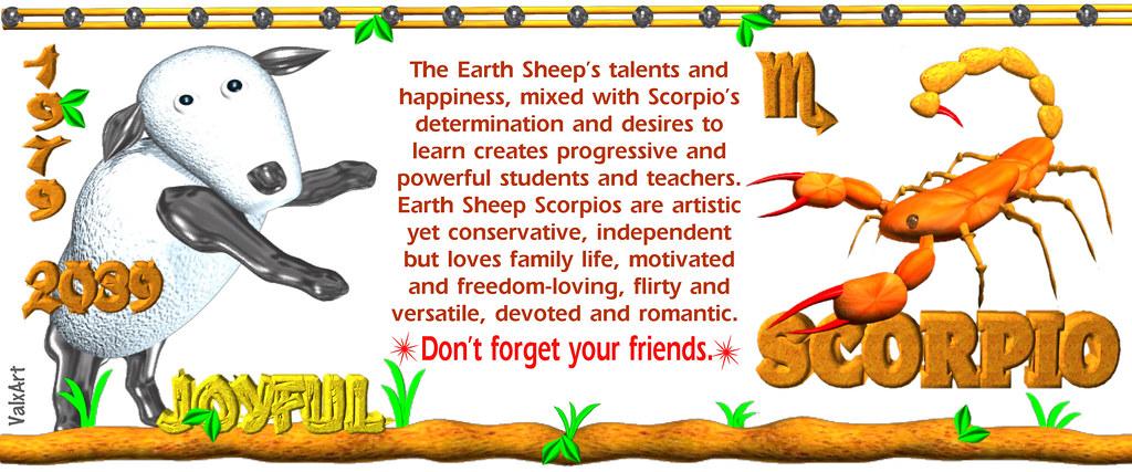 ValxArt 1979 2039 Earth Sheep Scorpio, horoscope forecast