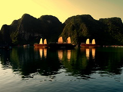 Waking up in Halong Bay