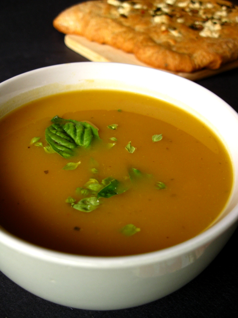 Roasted Squash and Chickpea Soup