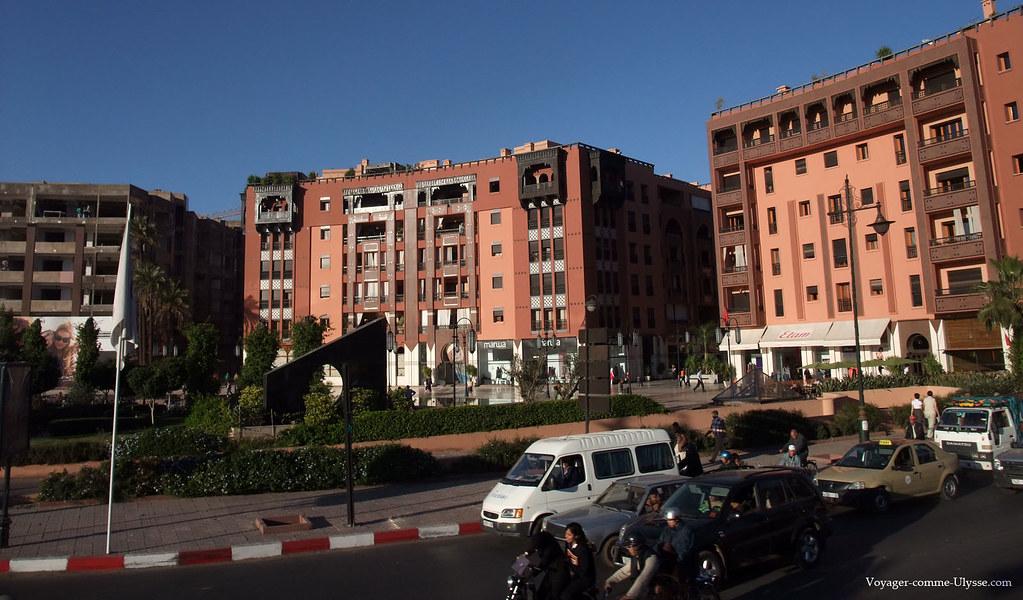Quartiers modernes de marrakech gu liz et hivernage - Residence les jardins de majorelle marrakech ...