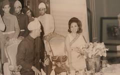 The royals at a banquet