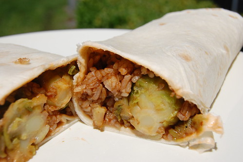 Thai Barbeque and Brussels Sprouts Wrap