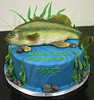 BC4118 - bass fish birthday cake toronto