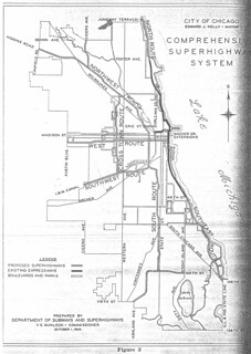 City of Chicago Comprehensive Superhighway System Prepared by Department of Subways and Superhighways (1945)