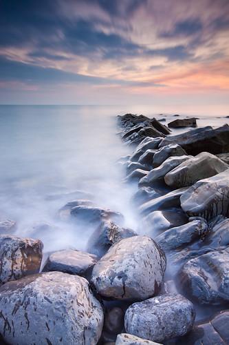 Splashed Rocks by Dale Hayter
