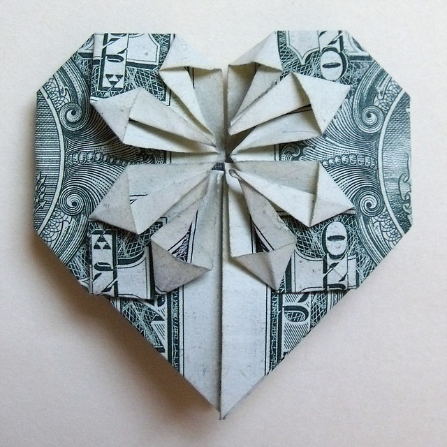 money paper hearts