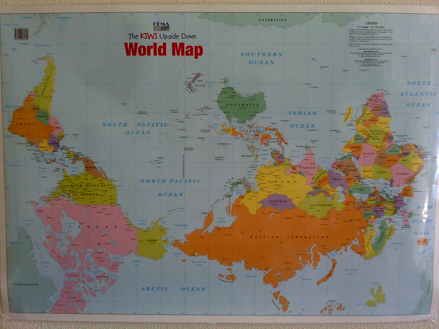world map upside down Flickr Photo Sharing