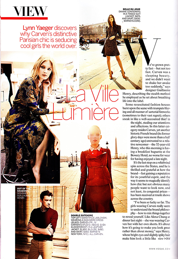 Petite haute couture fashion house carven gets a modern for Haute couture fashion house