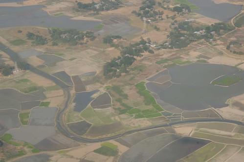 食物安全報告警告,孟加拉農地受到海水上升的威脅。(圖:ulricjoh。)