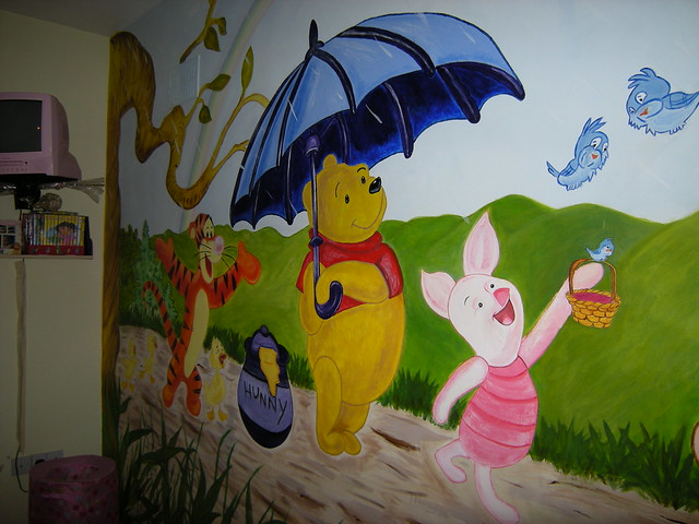 wall mural winnie the pooh flickr photo sharing. Black Bedroom Furniture Sets. Home Design Ideas