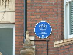 Photo of Gavin Ewart blue plaque