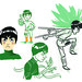 Rock Lee sketches