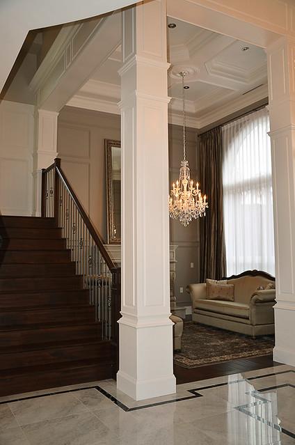 Nucasa Entrance Moldings Include Column Treatment Crown