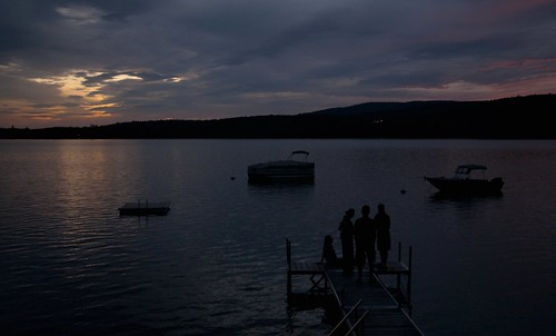 pictures new family sunset england sky people lake me water clouds digital docks boats photography boat photo dock nikon view dusk watching maine lakes picture newengland photograph d200 belgrade gahtering greken1