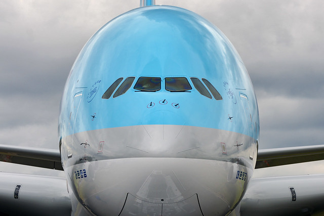 The Korean Air Airbus A380 at the 2011 Paris Air Show