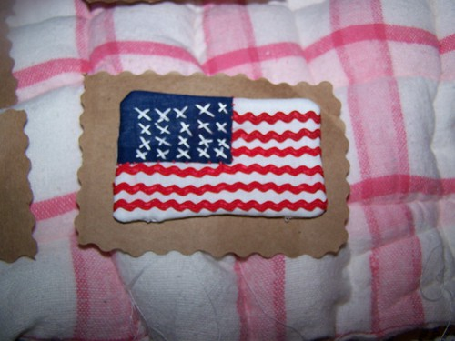 Hand sewn American flag by my Mom