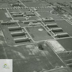 1950s aerial photograph showing the grounds of the St. Thomas Psychiatric Hospital