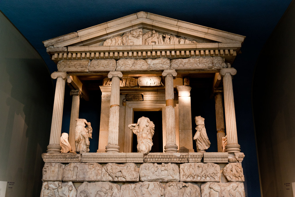 The Nereid Monument 390-380 BC  The British Museum allows photo shooting providing there is no financial gain.  Please respect their policy