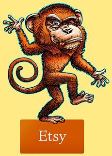 Cheeky Etsy Monkey