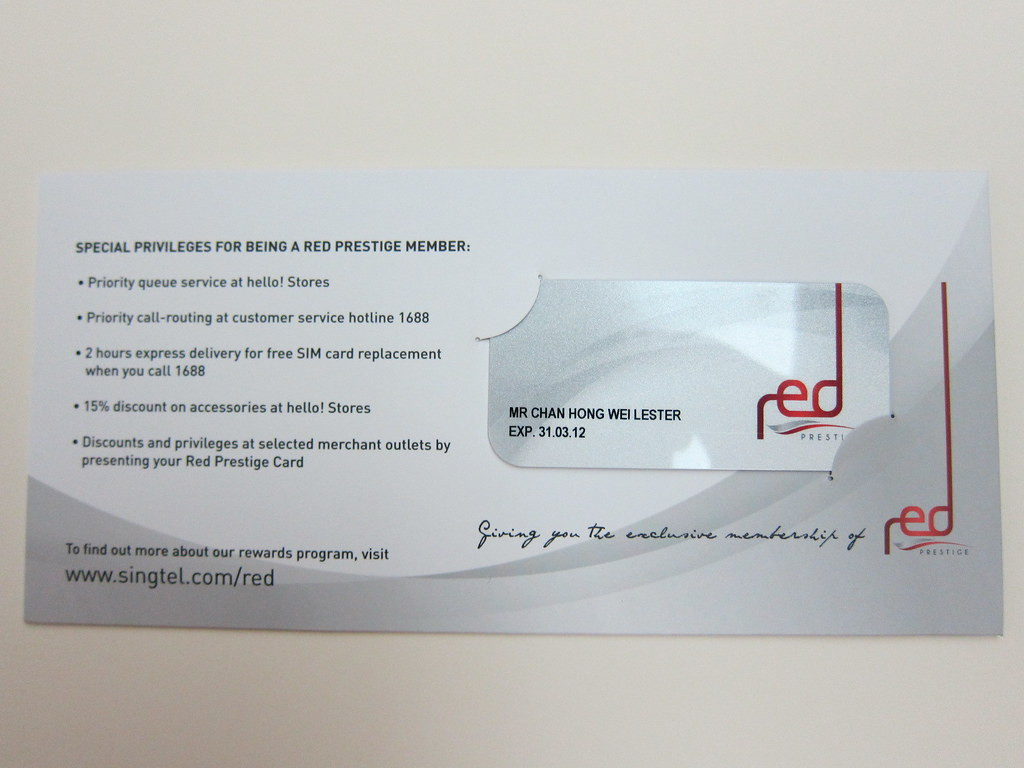 SingTel Red Prestige - Introduction