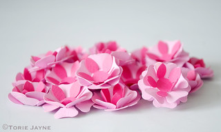 Paper Pink Flowers