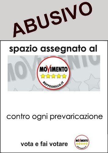 cartello affissione abusiva