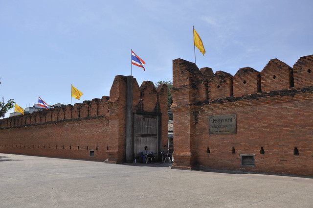 The city wall of Chiang Mai