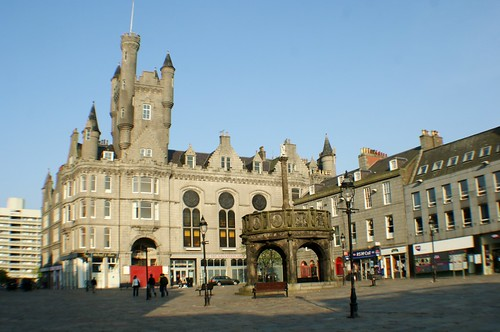 City Square with Mercat Cross, Aberdeen, Scotland
