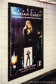 Mariah Carey poster in London Underground