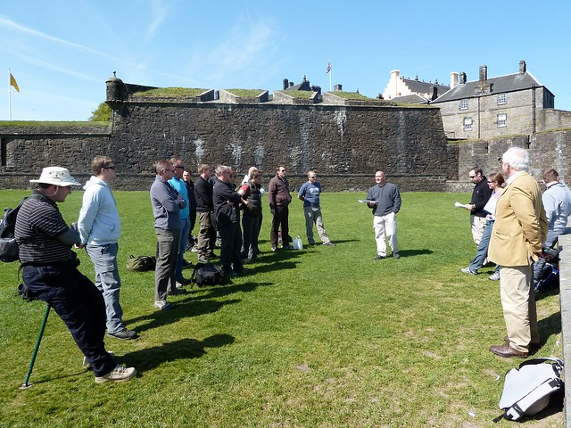 Battlefields Tour Group at Stirling Castle, Scotland