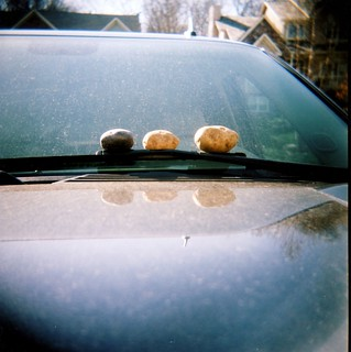Three Potatoes on a Windshield