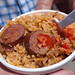 Pork and Sausage Jumbalaya, the sausages are especially tasty. (Food 2)