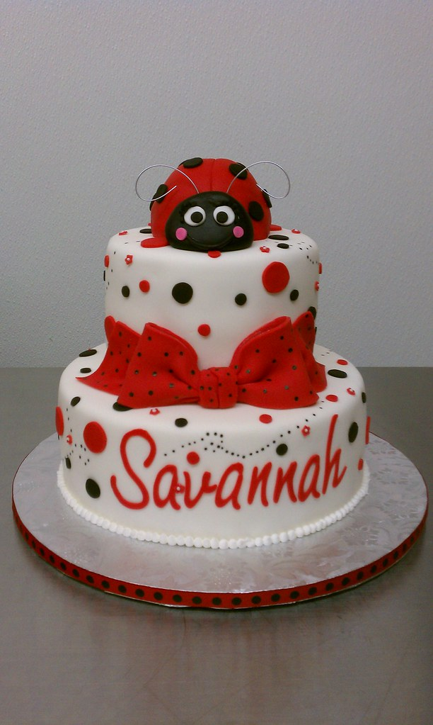 Great Lady Bug Baby Shower Cake