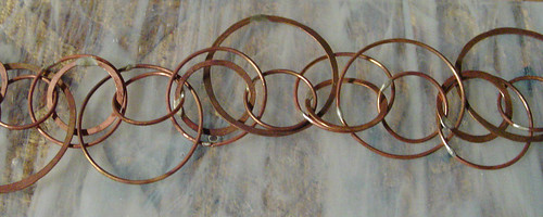 soldered and forged ring bracelet closeup