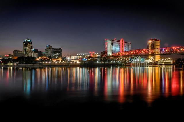 Downtown Shreveport La And The Texas Street Bridge
