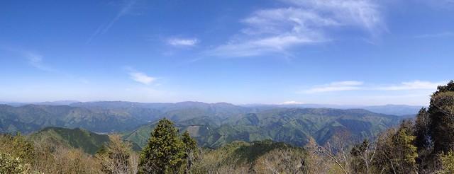 高賀山 山頂からの眺望 白山方面パノラマ