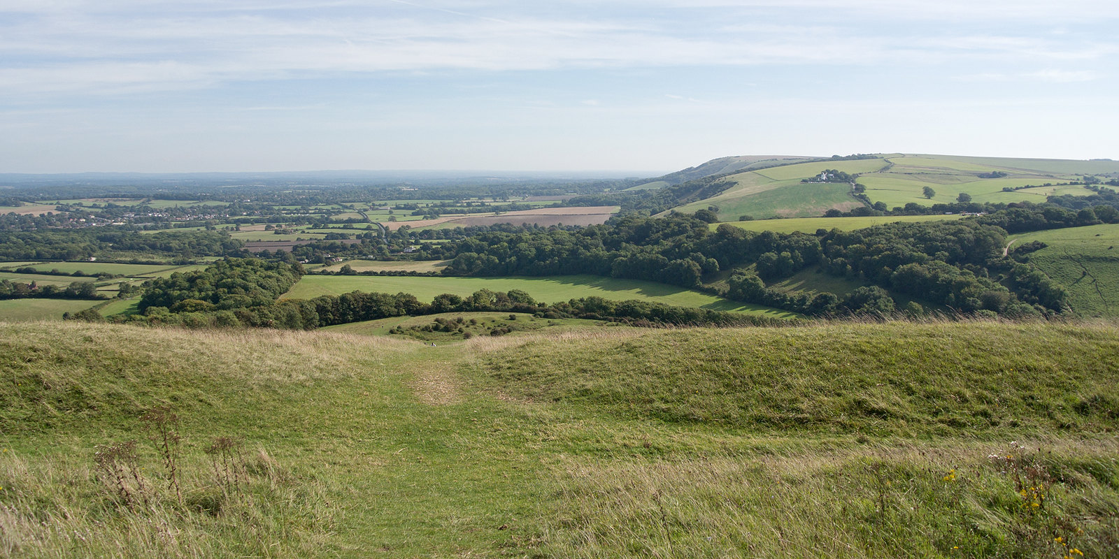 View from Wolstonbury Hill Hassocks to Upper Beeding