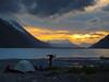 Camping on Portage Lake