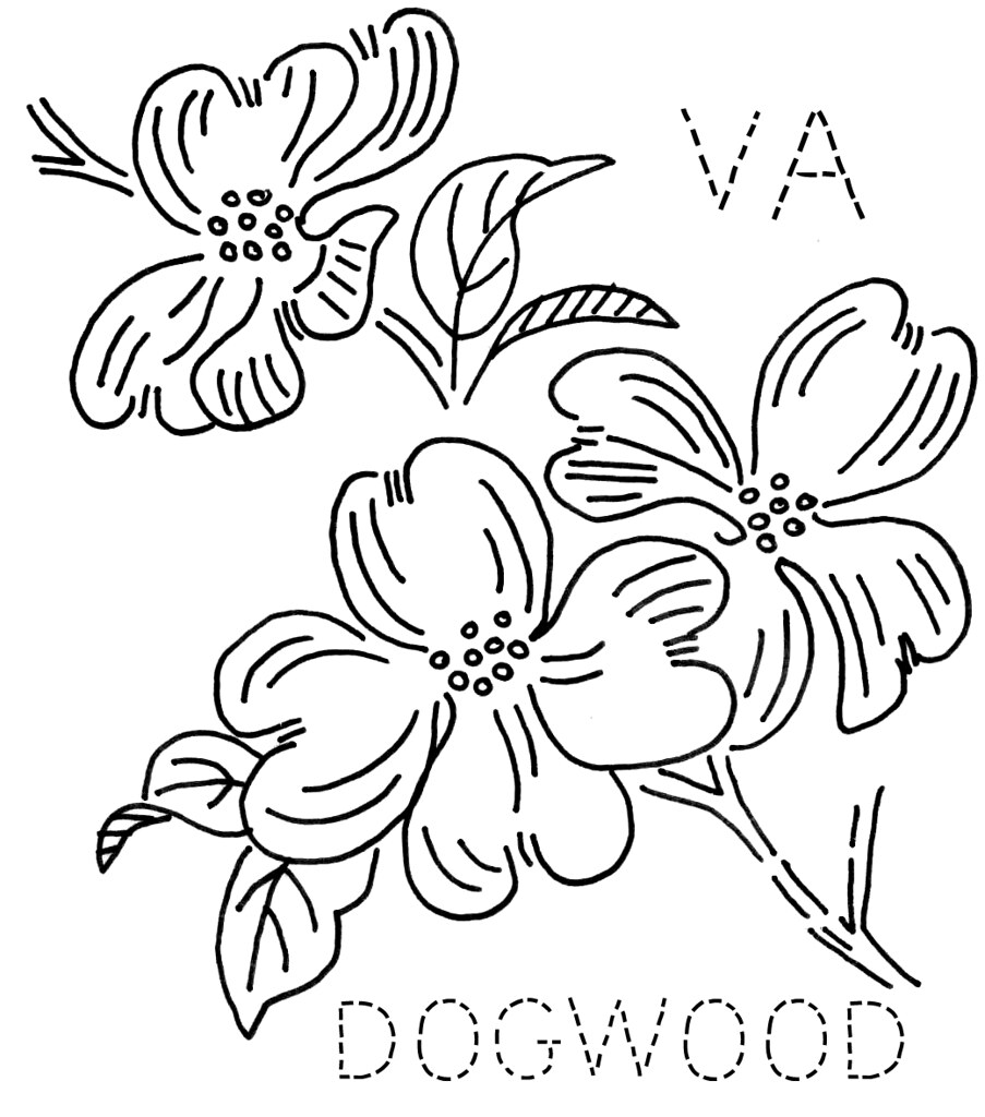 garden state parkway sign coloring pages | Virginia Dogwood | To download the 6-inch block size ...