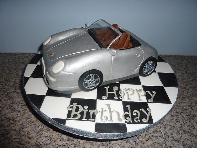 porsche birthday cake