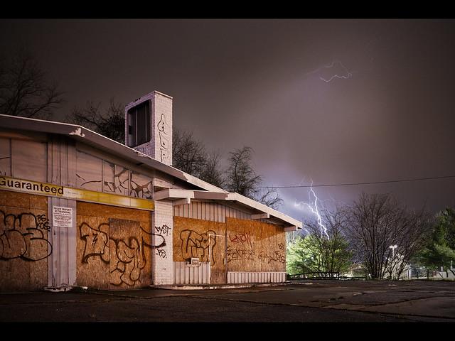 Gas Station Lightning