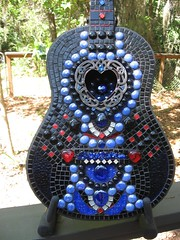 Mosaic Guitar for Barberville Frolic Silent Auction