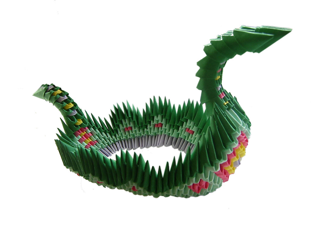 3d Origami Chinese Dragon Instructions Boat Origamichinesedragondiagram How To Download