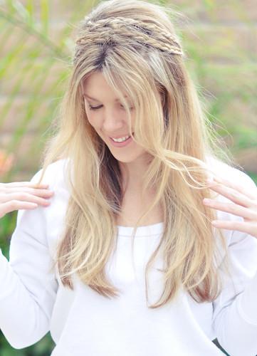 Messy Rope braids hair tutorial -top
