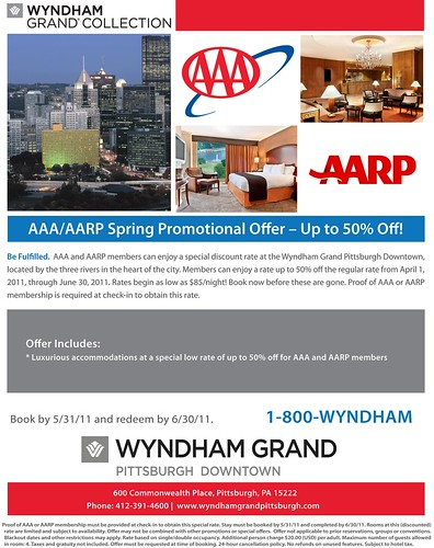 Up to 50 off AAA AARP Spring Promotional offer