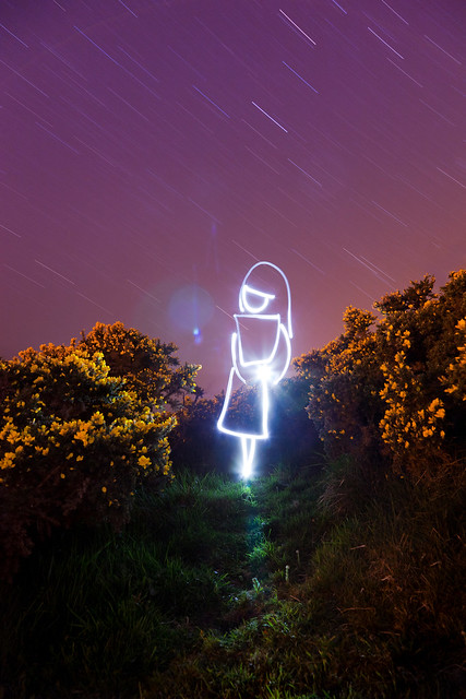 Being In The Universe (White Witch Light Painting), Dorset