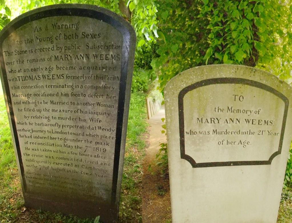 Mary Ann Weems' Headstone (composite) Huntingdon Circular